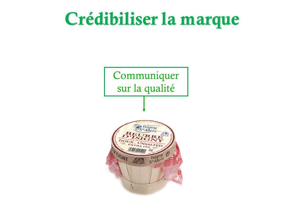 Communiquer sur la qualité Produit du terroir Crédibiliser la marque