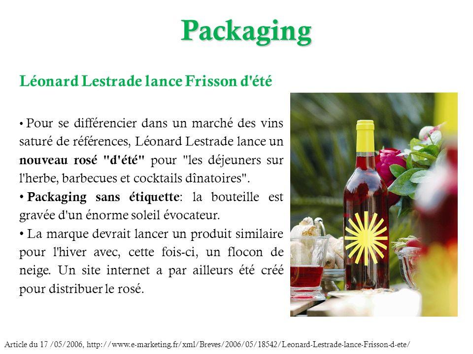 Packaging Article du 17 /05/2006, http://www.e-marketing.fr/xml/Breves/2006/05/18542/Leonard-Lestrade-lance-Frisson-d-ete/ Léonard Lestrade lance Fris