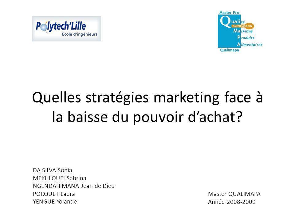 Quelles stratégies marketing face à la baisse du pouvoir dachat.