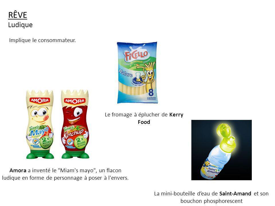 RÊVE Ludique Amora a inventé le Miam s mayo , un flacon ludique en forme de personnage à poser à l envers.