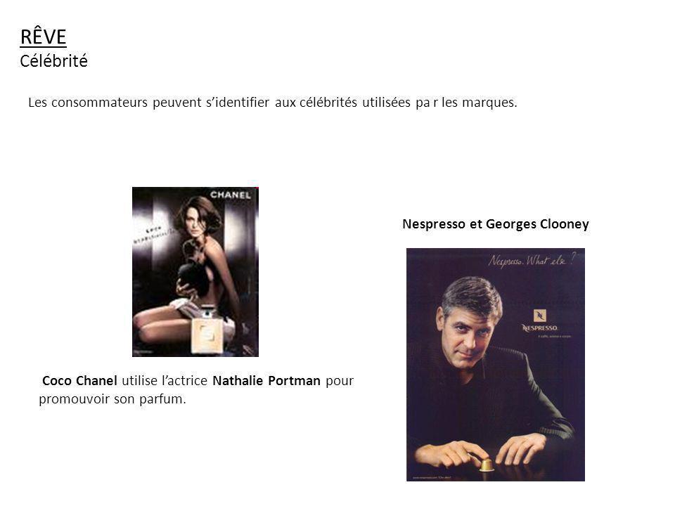 Coco Chanel utilise lactrice Nathalie Portman pour promouvoir son parfum. Nespresso et Georges Clooney RÊVE Célébrité Les consommateurs peuvent sident
