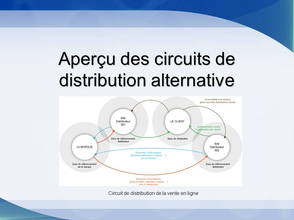 Aperçu des circuits de distribution alternative Circuit de distribution de la vente en ligne