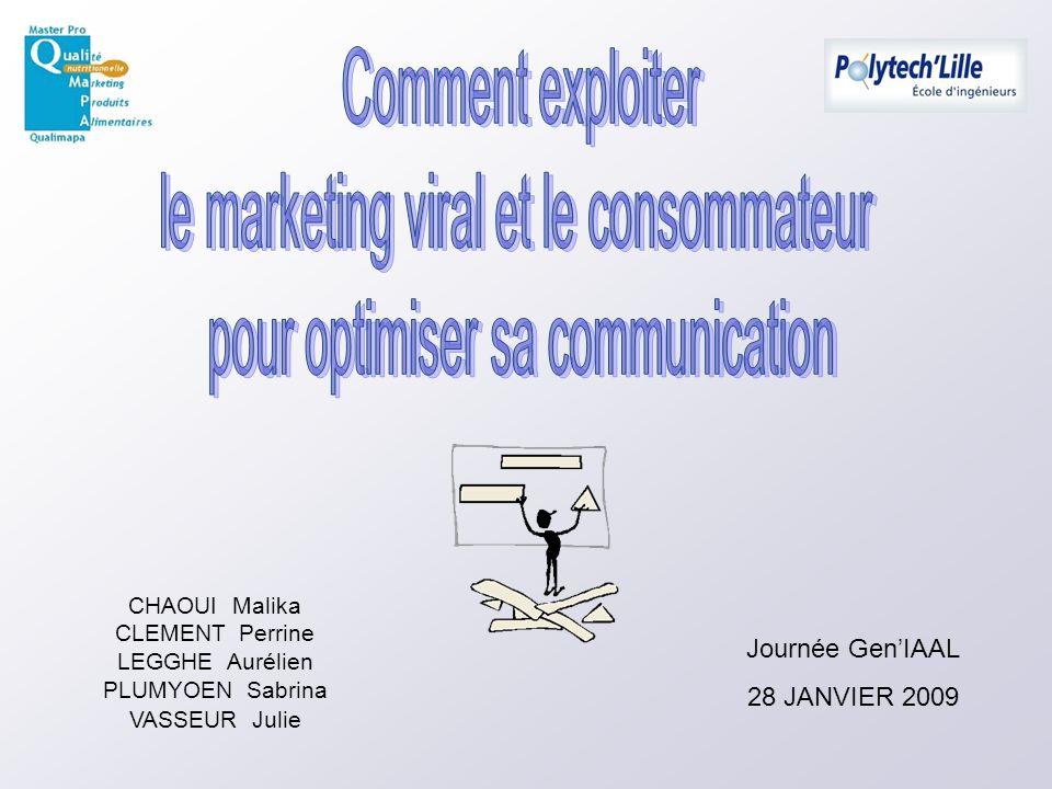 CHAOUI Malika CLEMENT Perrine LEGGHE Aurélien PLUMYOEN Sabrina VASSEUR Julie Journée GenIAAL 28 JANVIER 2009
