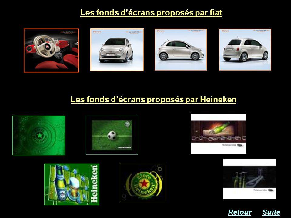 Les fonds décrans proposés par fiat Les fonds décrans proposés par Heineken RetourSuite