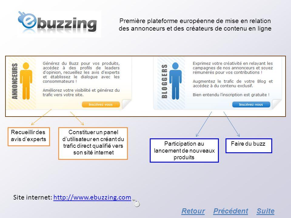 Première plateforme européenne de mise en relation des annonceurs et des créateurs de contenu en ligne Recueillir des avis dexperts Constituer un pane