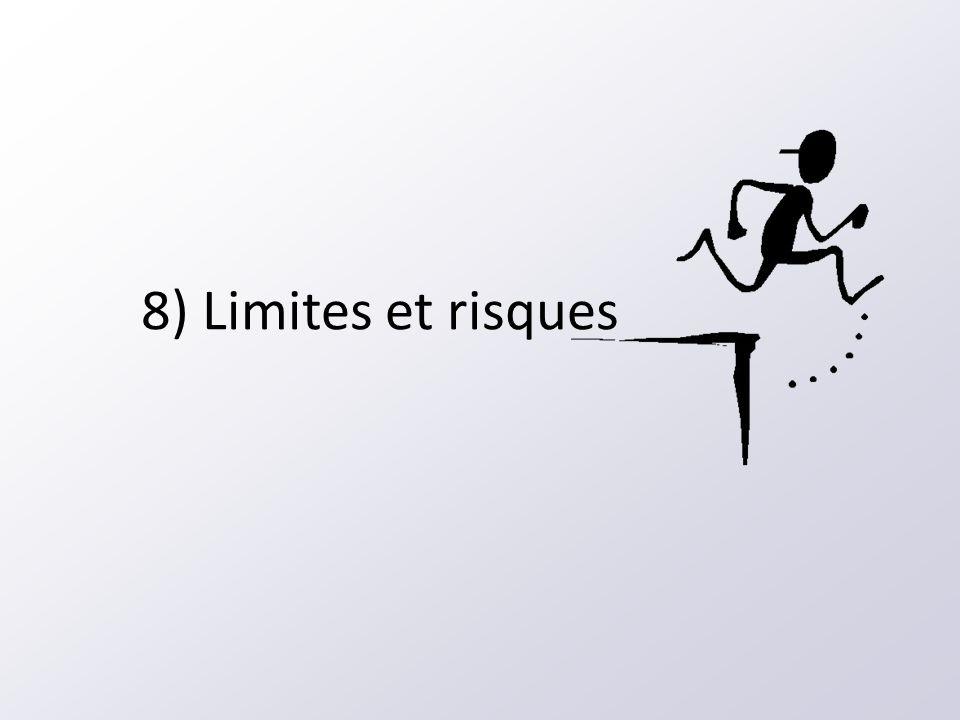 8) Limites et risques