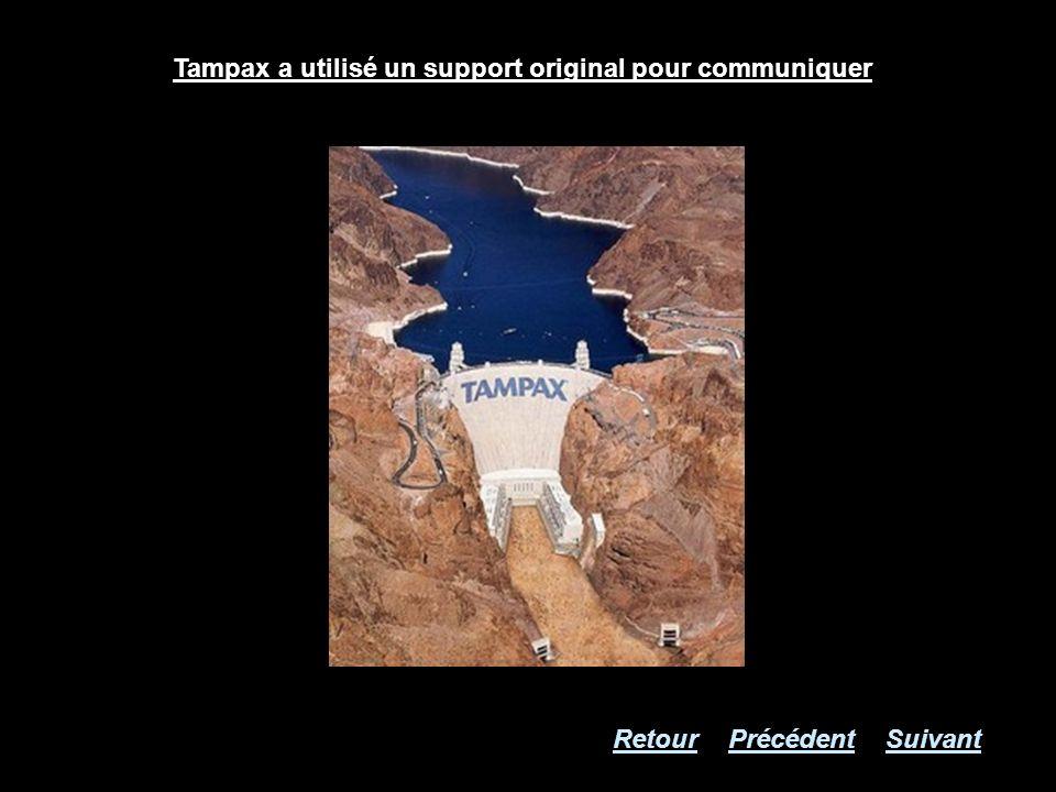 Tampax a utilisé un support original pour communiquer RetourSuivantPrécédent