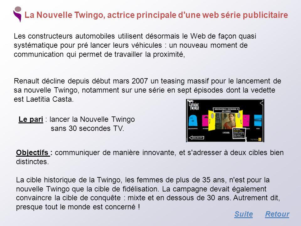 La Nouvelle Twingo, actrice principale d'une web série publicitaire Les constructeurs automobiles utilisent désormais le Web de façon quasi systématiq