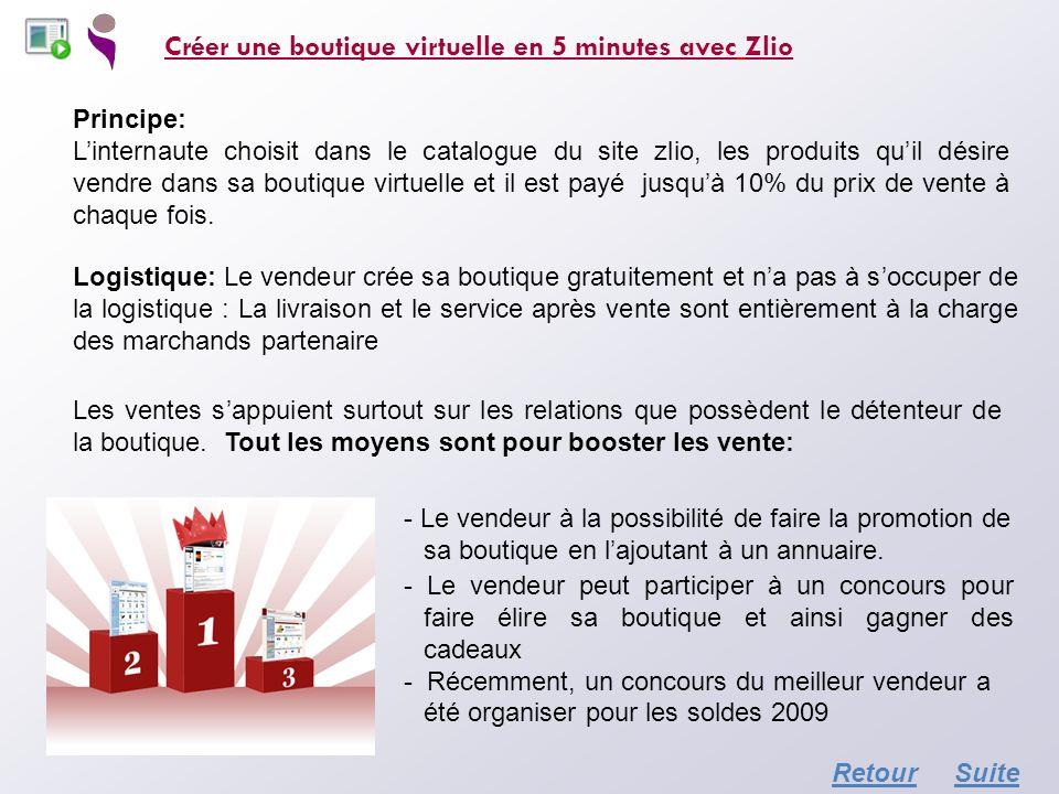 Créer une boutique virtuelle en 5 minutes avec Zlio Principe: Linternaute choisit dans le catalogue du site zlio, les produits quil désire vendre dans