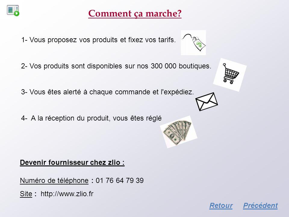 Comment ça marche? Devenir fournisseur chez zlio : Numéro de téléphone : 01 76 64 79 39 Site : http://www.zlio.fr 1- Vous proposez vos produits et fix