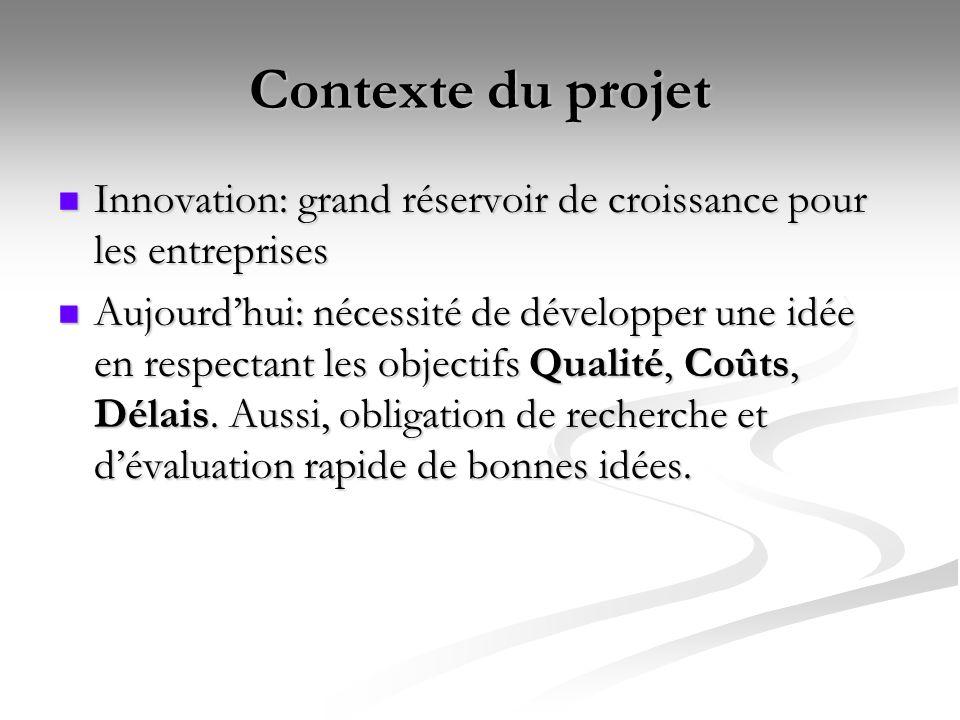 Contexte du projet Innovation: grand réservoir de croissance pour les entreprises Innovation: grand réservoir de croissance pour les entreprises Aujou