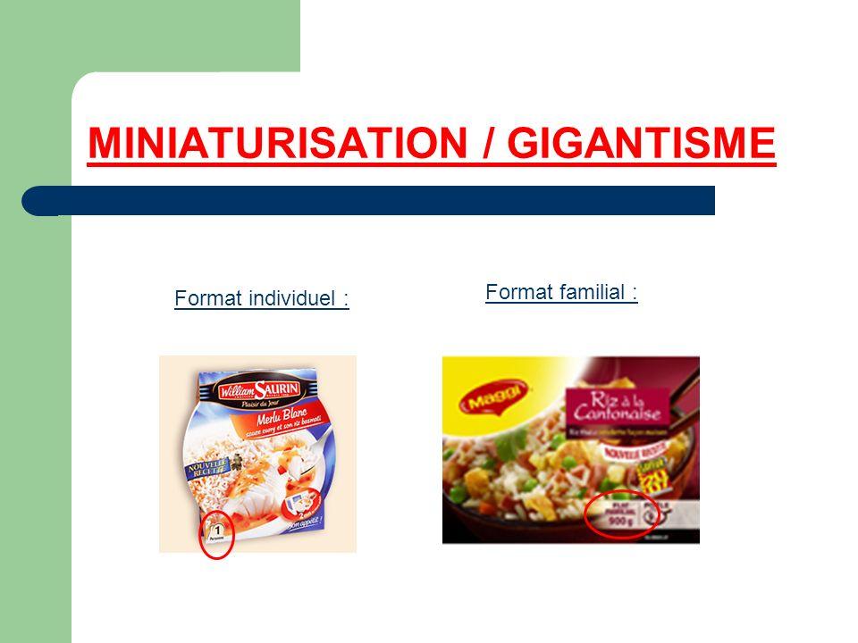 MINIATURISATION / GIGANTISME Format individuel : Format familial :