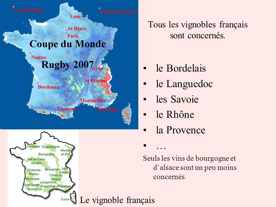 Tous les vignobles français sont concernés.
