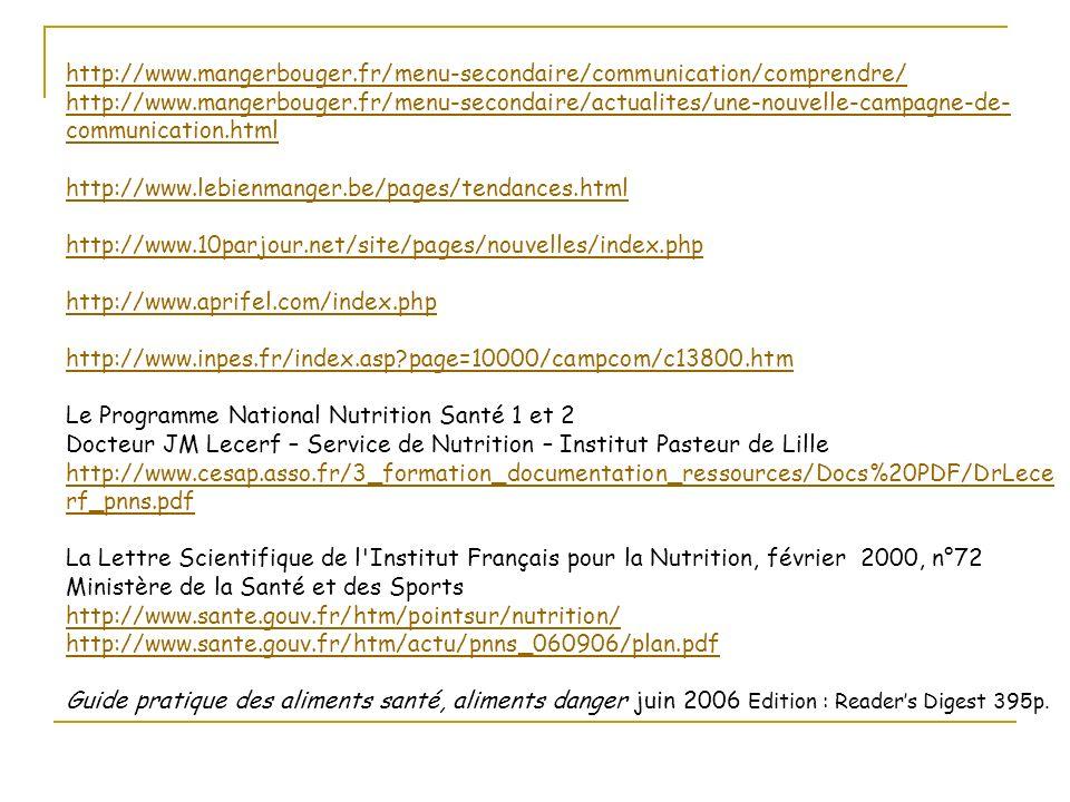 http://www.mangerbouger.fr/menu-secondaire/communication/comprendre/ http://www.mangerbouger.fr/menu-secondaire/actualites/une-nouvelle-campagne-de- c