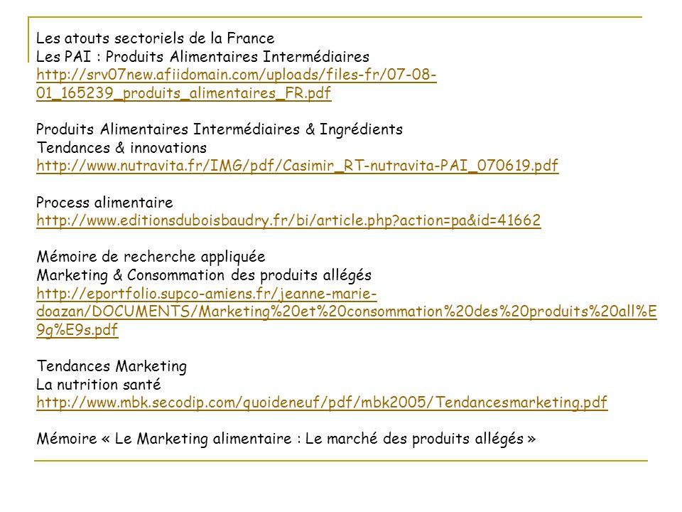 Les atouts sectoriels de la France Les PAI : Produits Alimentaires Intermédiaires http://srv07new.afiidomain.com/uploads/files-fr/07-08- 01_165239_pro