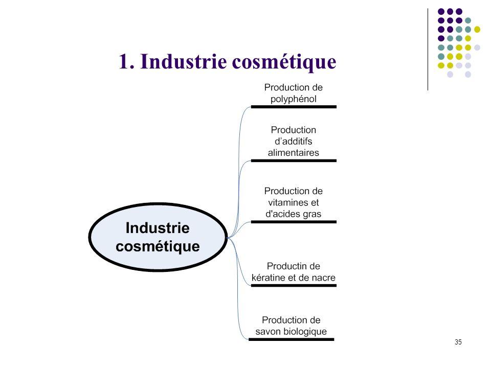35 1. Industrie cosmétique