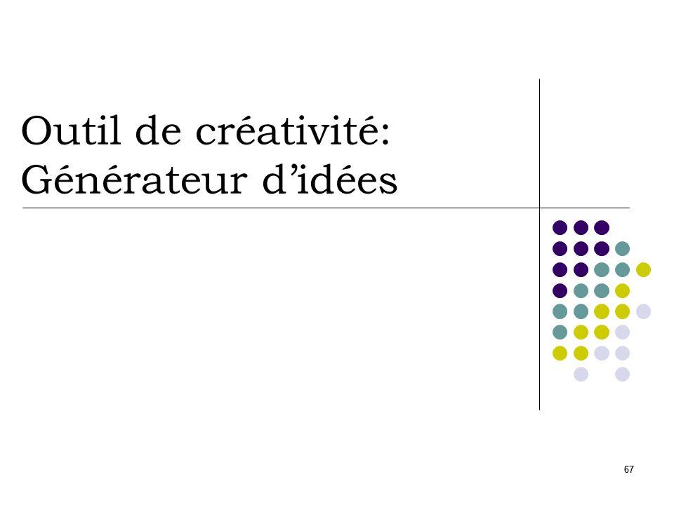 67 Outil de créativité: Générateur didées