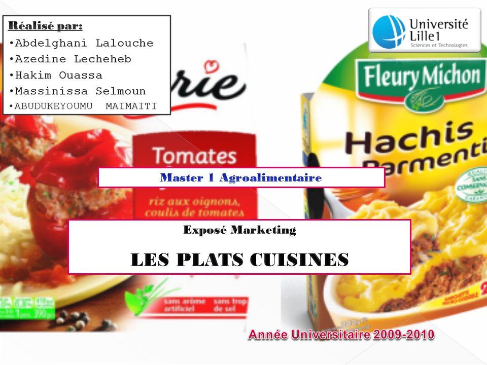 INTRODUCTION -Le marché mondial en terme de produits est hétérogène et il est lié aux habitudes alimentaires régionales.