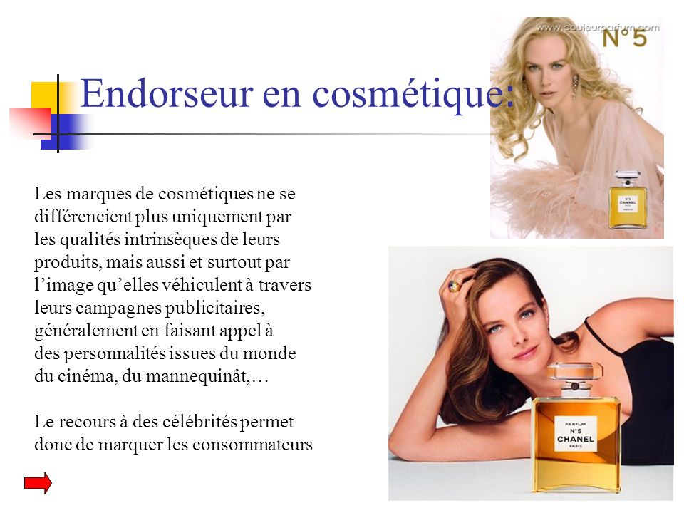Endorseur en cosmétique : Les marques de cosmétiques ne se différencient plus uniquement par les qualités intrinsèques de leurs produits, mais aussi e