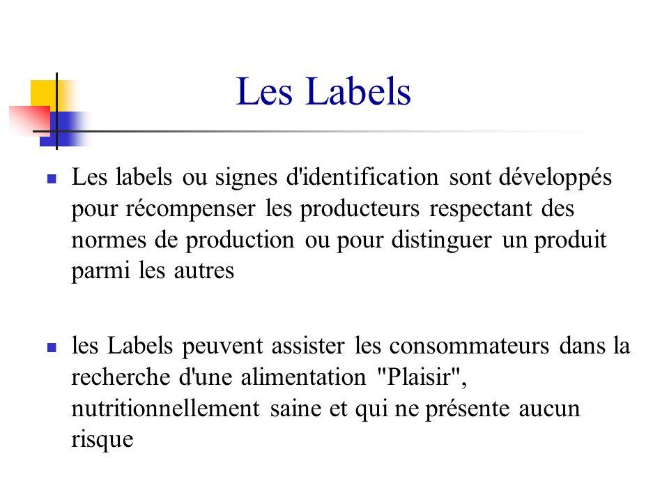Les labels ou signes d'identification sont développés pour récompenser les producteurs respectant des normes de production ou pour distinguer un produ