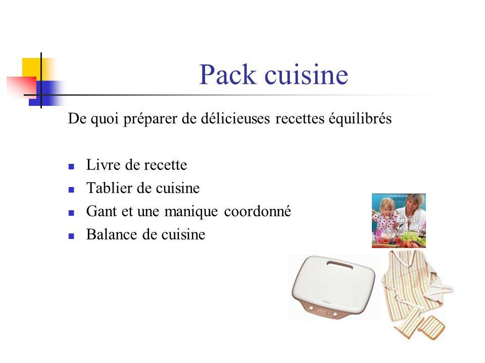 Pack cuisine De quoi préparer de délicieuses recettes équilibrés Livre de recette Tablier de cuisine Gant et une manique coordonné Balance de cuisine