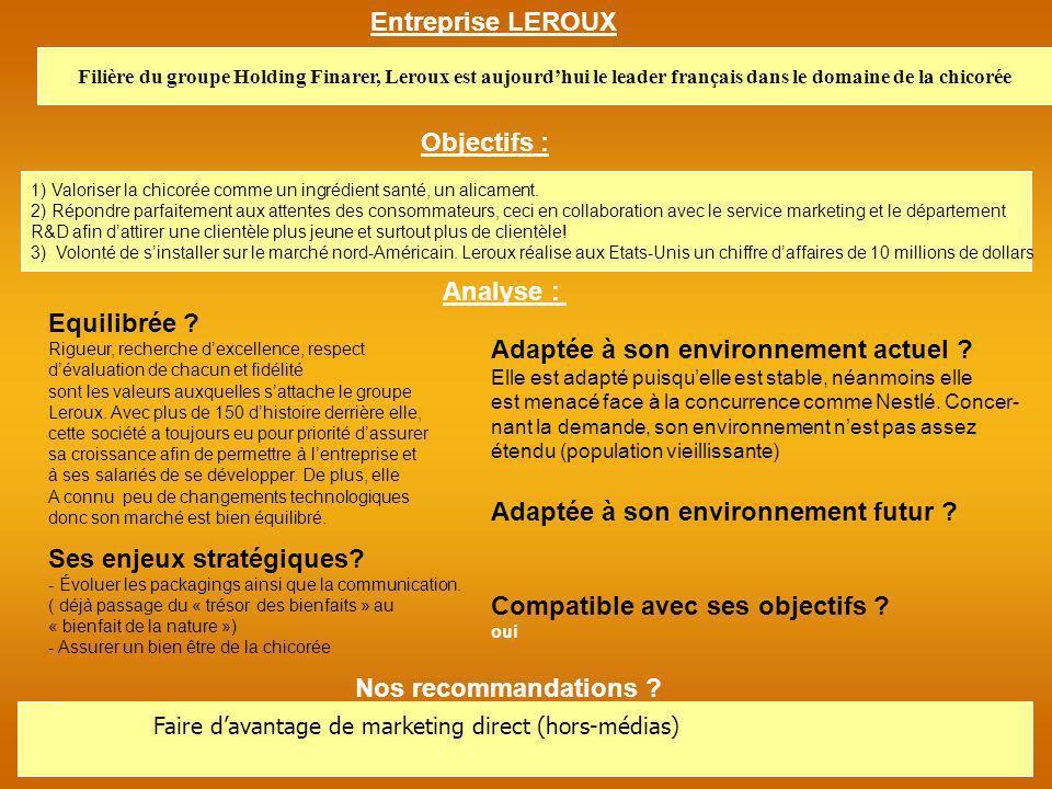 Entreprise : Nestlé Depuis les années 2000, Nestlé sadapte aux nouveaux mode de vie des Français en créant de nouveaux format (stick).