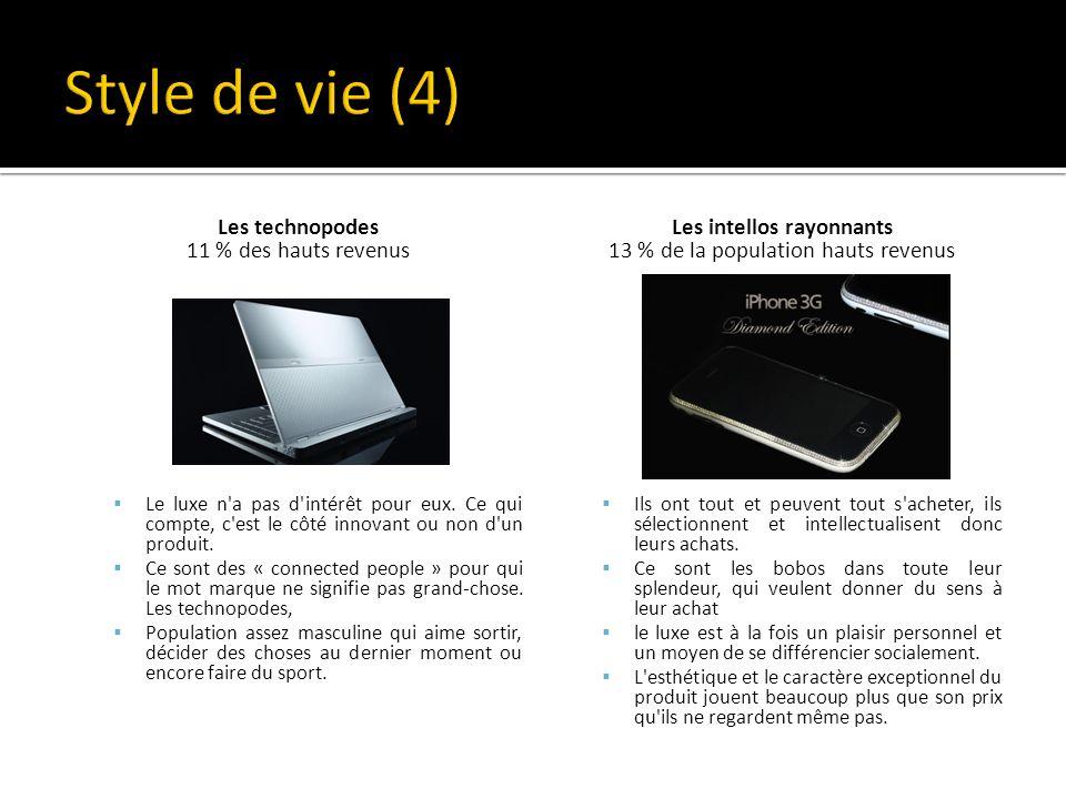 Les technopodes 11 % des hauts revenus Le luxe n a pas d intérêt pour eux.