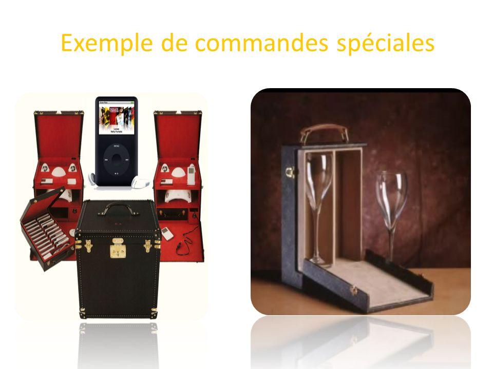 Exemple de commandes spéciales