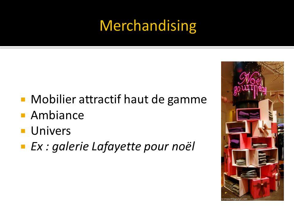 Mobilier attractif haut de gamme Ambiance Univers Ex : galerie Lafayette pour noël