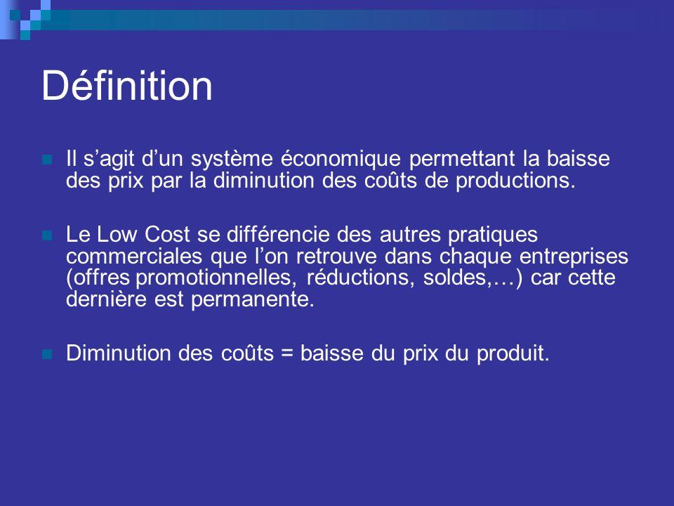 Baisse des coûts de produit et/ou de service permet daugmenter la capacité de production face à la demande.