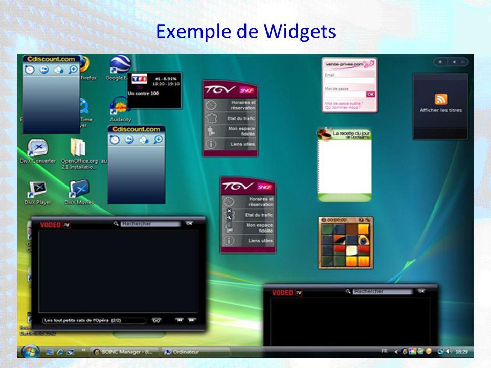 Exemple de Widgets