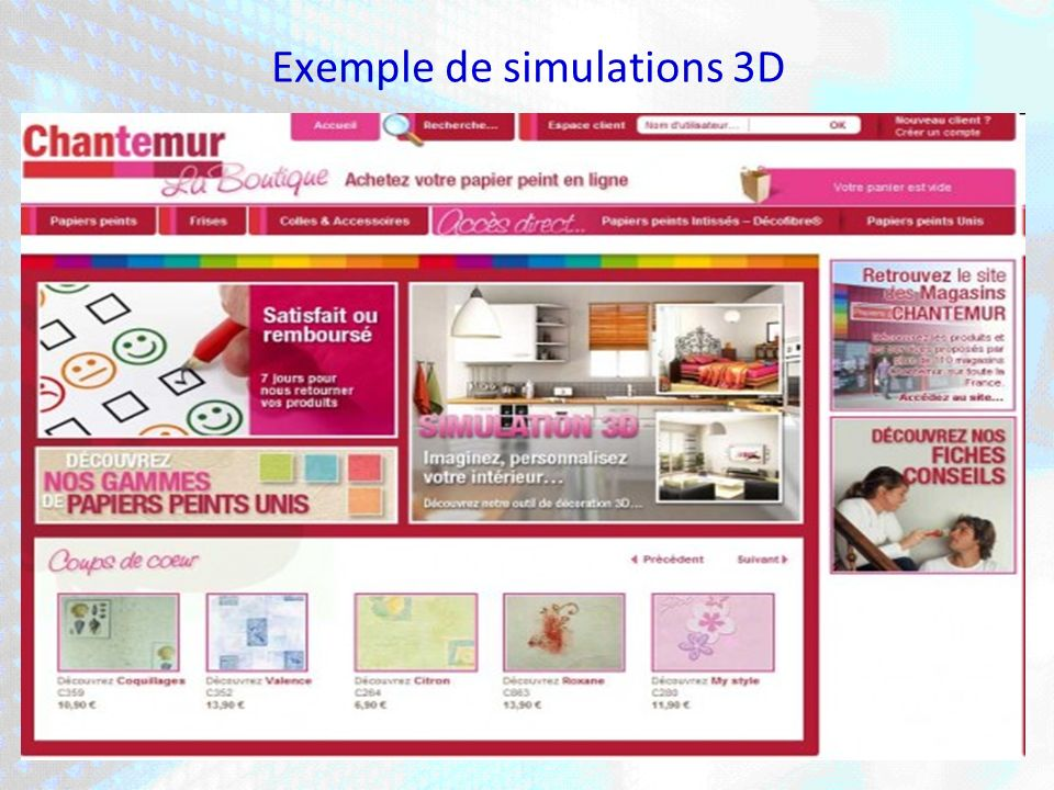 Exemple de simulations 3D