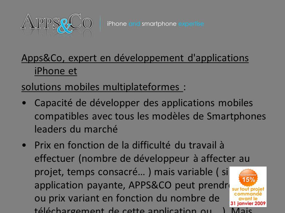 Apps&Co, expert en développement d'applications iPhone et solutions mobiles multiplateformes : Capacité de développer des applications mobiles compati