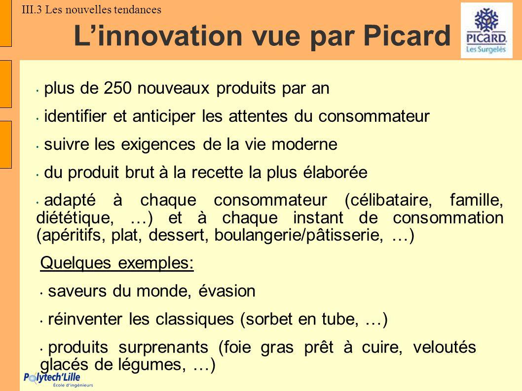 Linnovation vue par Picard plus de 250 nouveaux produits par an identifier et anticiper les attentes du consommateur suivre les exigences de la vie mo