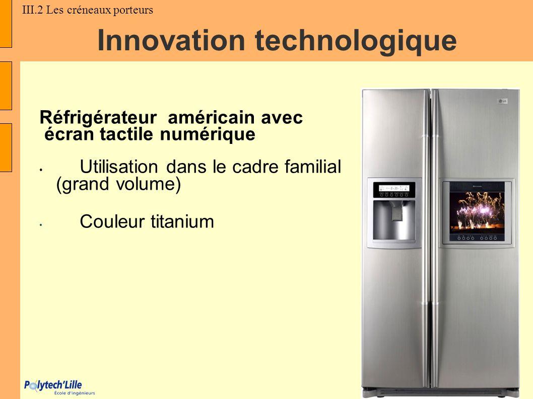 Réfrigérateur américain avec écran tactile numérique Utilisation dans le cadre familial (grand volume) Couleur titanium Innovation technologique III.2