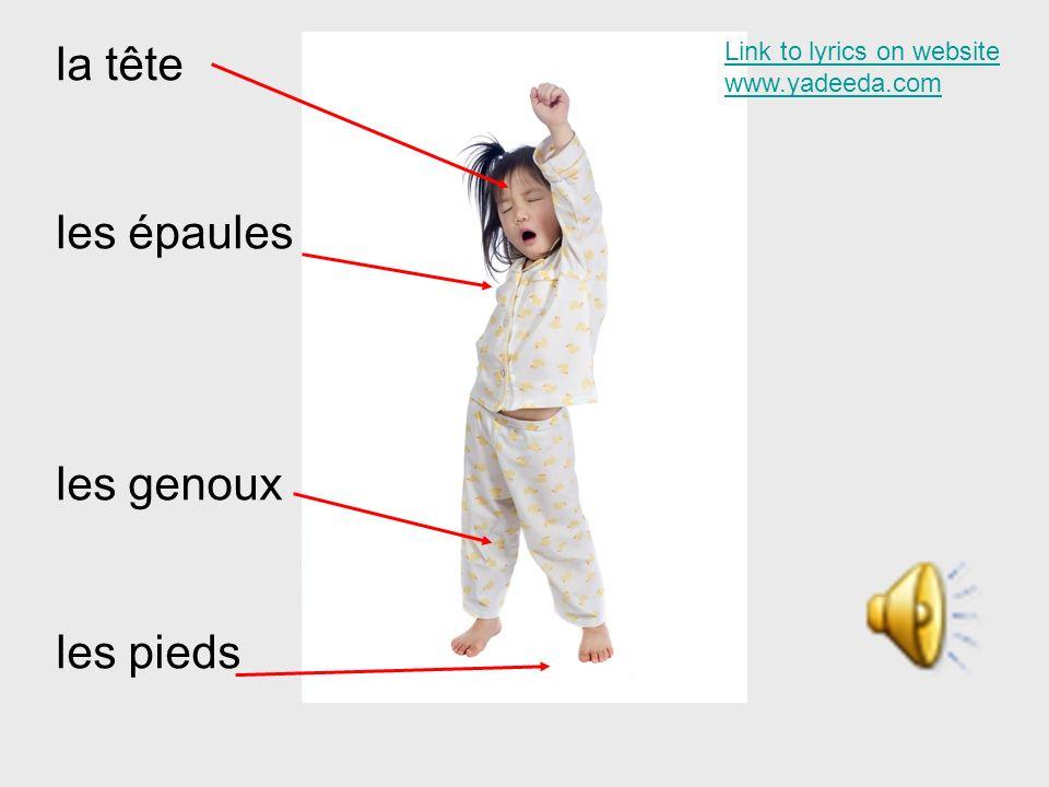 la tête les épaules les genoux les pieds Link to lyrics on website www.yadeeda.com