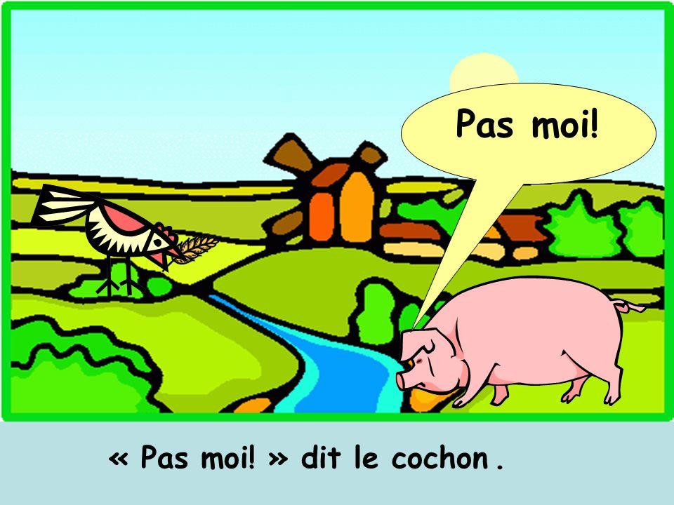 « Pas moi! » dit le cochon. Pas moi!