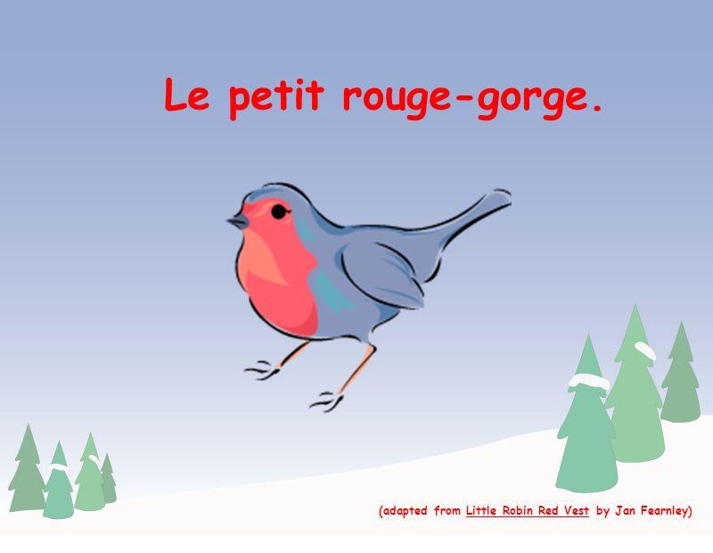 Le petit rouge-gorge est revenu à sa maison sur le traîneau de Papa Noël. Merci! De rien!