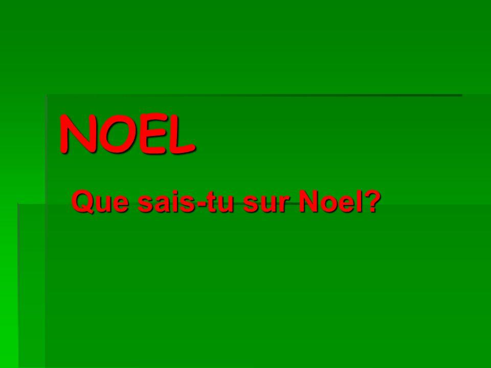 NOEL Que sais-tu sur Noel?