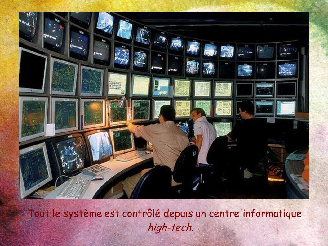 Tout le système est contrôlé depuis un centre informatique high-tech.