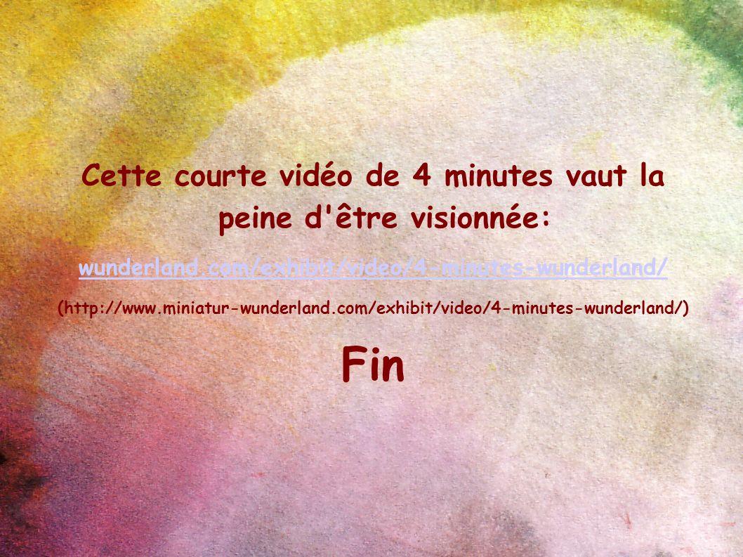 Cette courte vidéo de 4 minutes vaut la peine d'être visionnée: wunderland.com/exhibit/video/4-minutes-wunderland/ (http://www.miniatur-wunderland.com