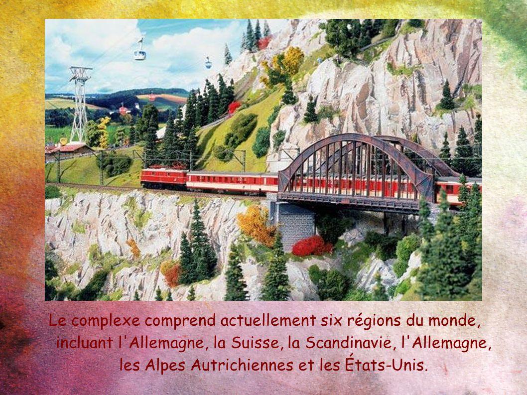 Le complexe comprend actuellement six régions du monde, incluant l'Allemagne, la Suisse, la Scandinavie, l'Allemagne, les Alpes Autrichiennes et les É