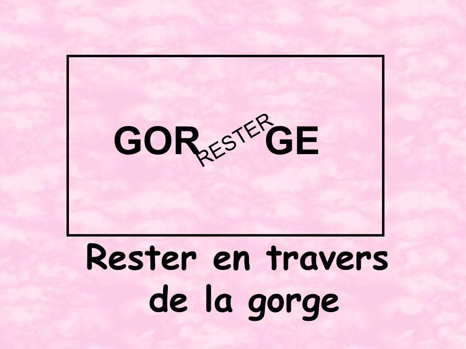 Rester en travers de la gorge GORGE RESTER