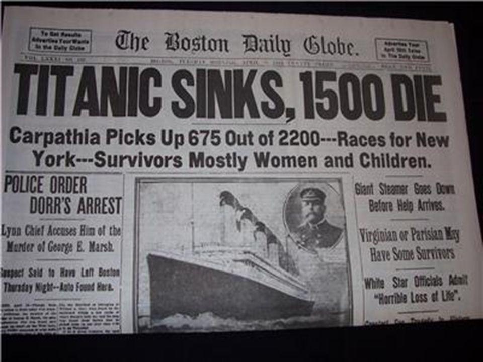 En première page Le capitaine Smith Commandant du Titanic