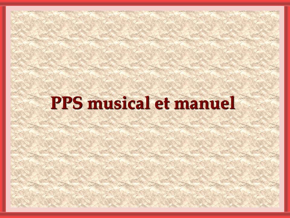 PPS musical et manuel