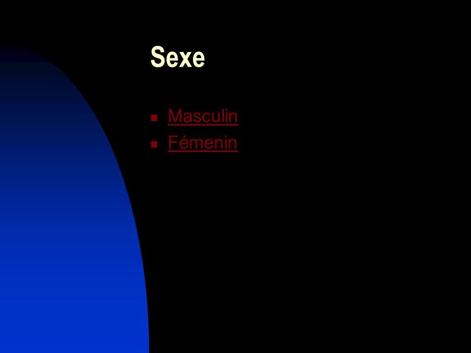 Sexe Masculin Fémenin