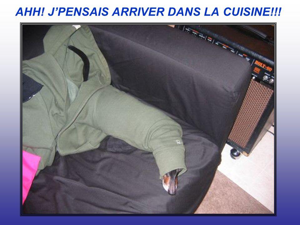 AHH! JPENSAIS ARRIVER DANS LA CUISINE!!!