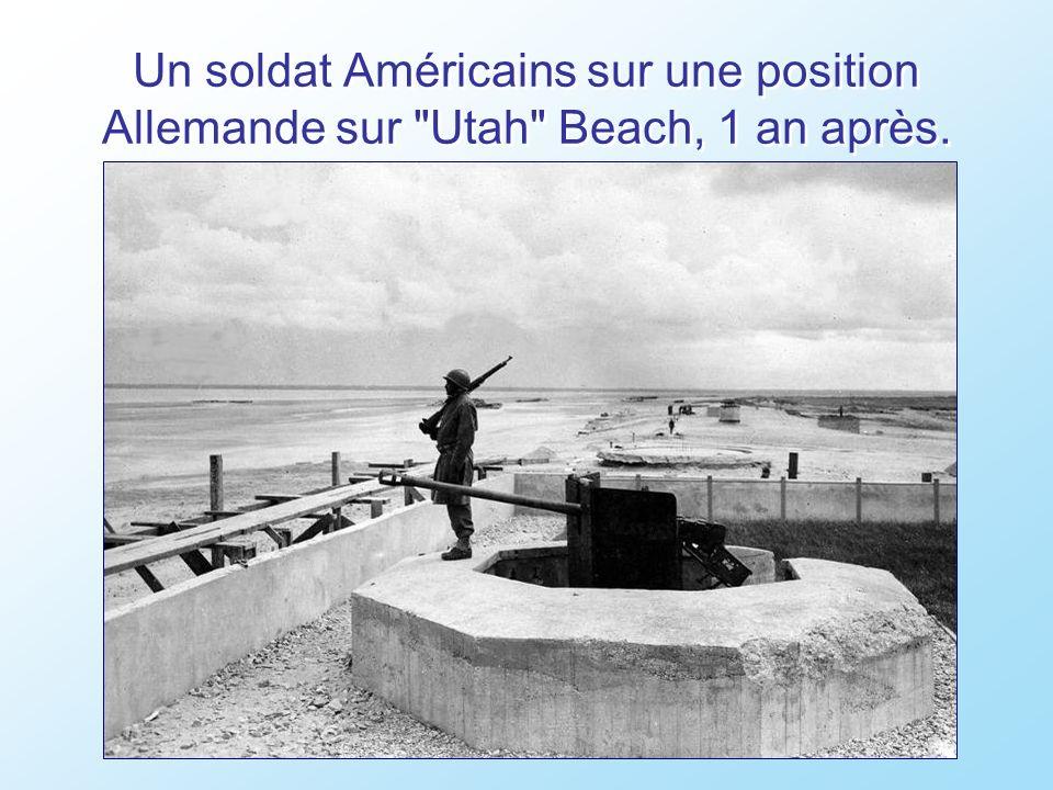 Les prisonniers de guerre Allemands sont emmenés par les forces alliées d Utah Beach, le débarquement est une victoire.