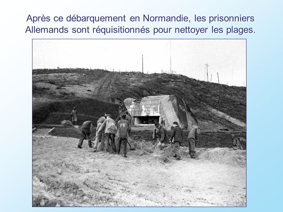 Un an après le débarquement, le premier cimetière Américain de Saint-Laurent-sur-Mer.