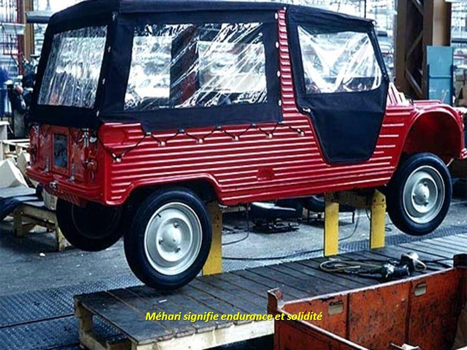1967, le prototype Méhari est élaboré à partir dune 2 CV fourgonnette